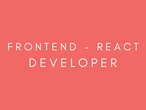 Frontend developer - React